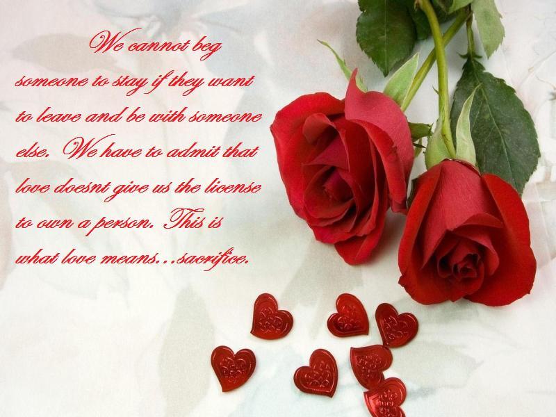 Love Means Sacrifice