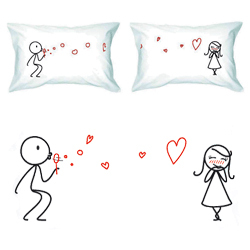 Graphic Love Pillows