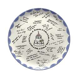 Wedding Platter With Comments From Loved Ones