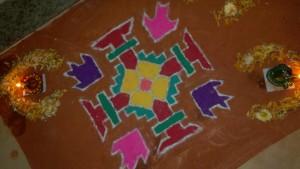 My first Dots Rangoli