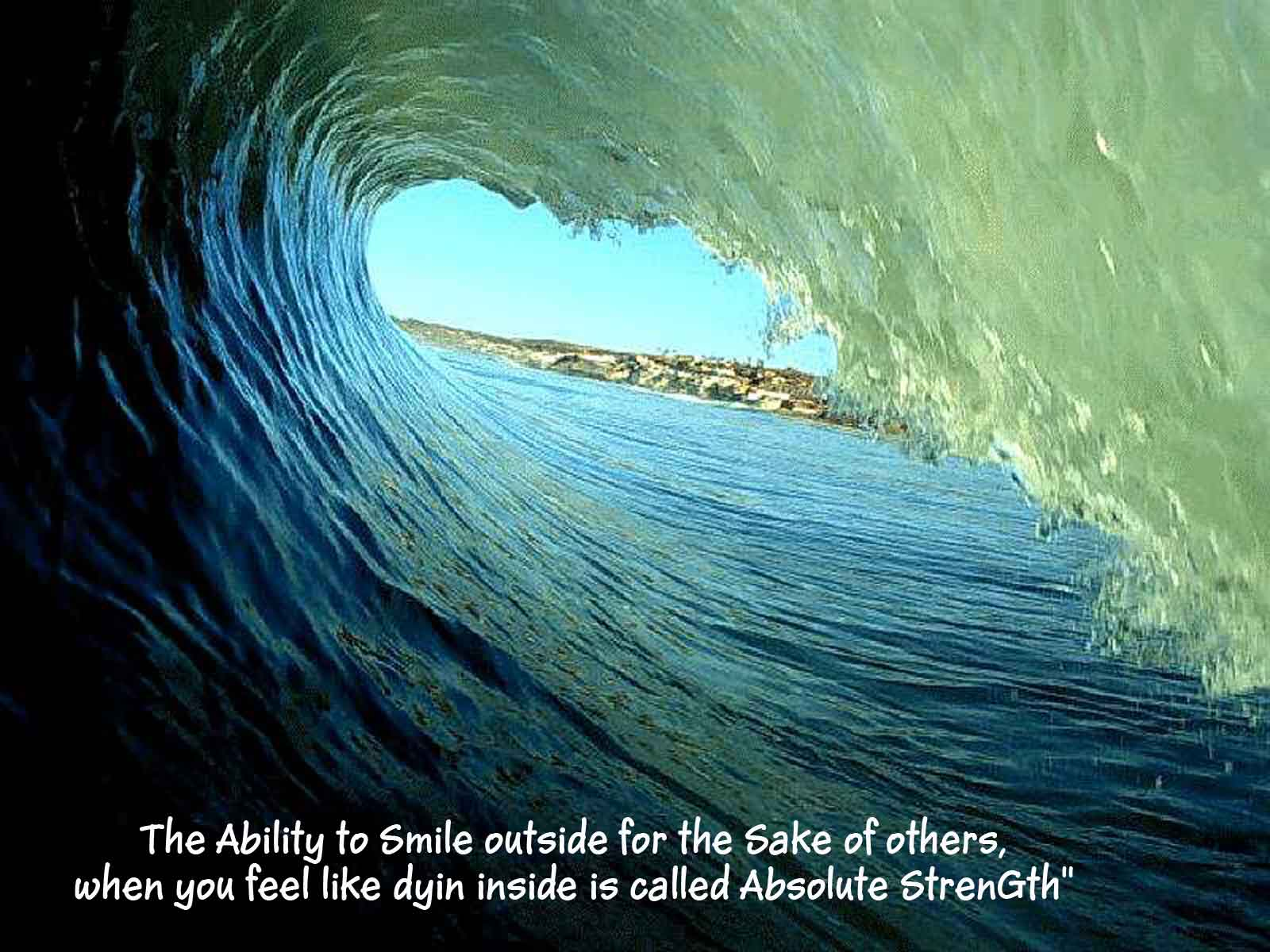 The Ability to Smile outside for the Sake of others