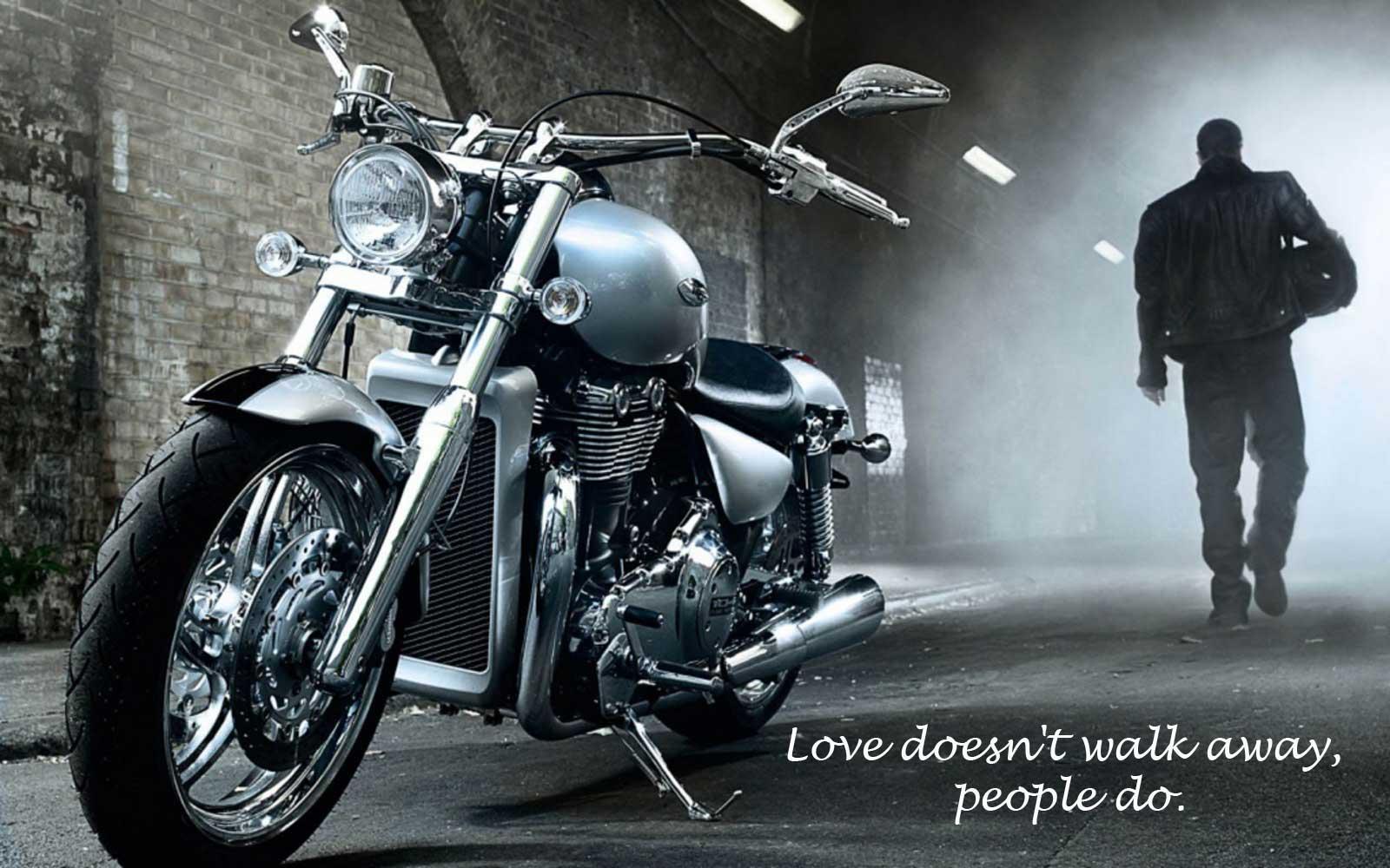 Love doesn't walk away, people do.